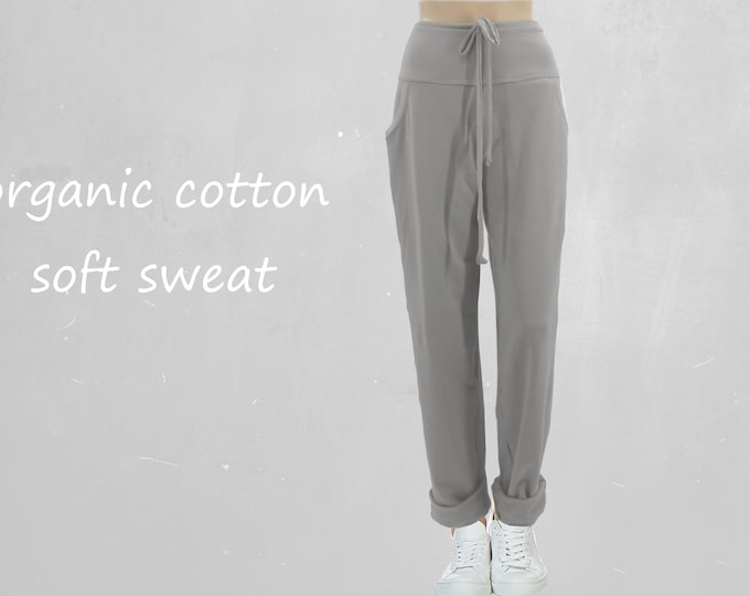 Sweat pants made of soft sweat organic cotton