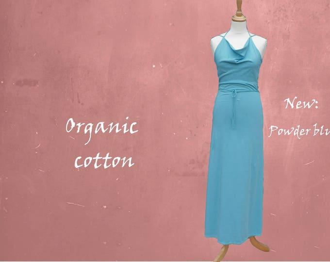 organic cotton maxi dress, long strapless dress biological cotton, summer dress GOTS certified