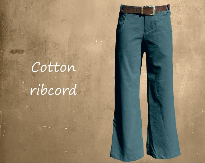 Corduroy pants, Cotton ribcord pants