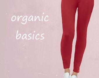 organic cotton legging, legging organic cotton GOTS certified, tricot legging, cotton legging, fair fashion, fair trade, sustainable