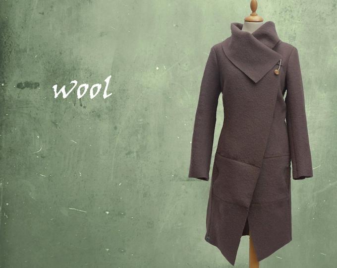 wool jacket, coat made of boiled wool, wool cardigan/jacket