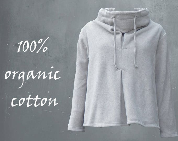 organic cotton fleece sweater, fleece sweat shirt, sweater  GOTS certified organic fleece