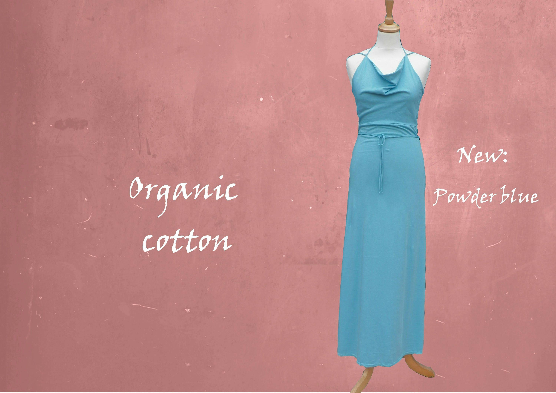 organic cotton maxi dress long strapless dress biological ...