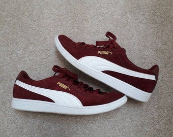eae096bb5a04 Puma Suede Burgundy size UK7