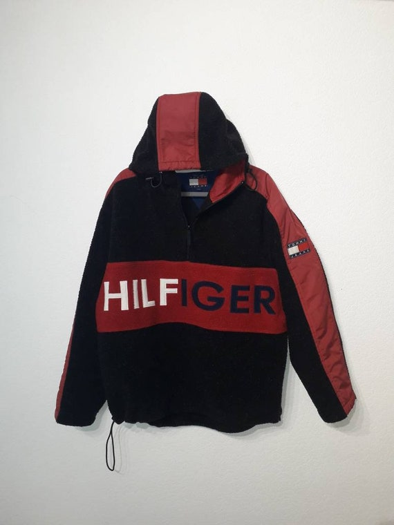 Tommy Hilfiger Tommy Jeans L vintage hooded spell out sherpa fleece
