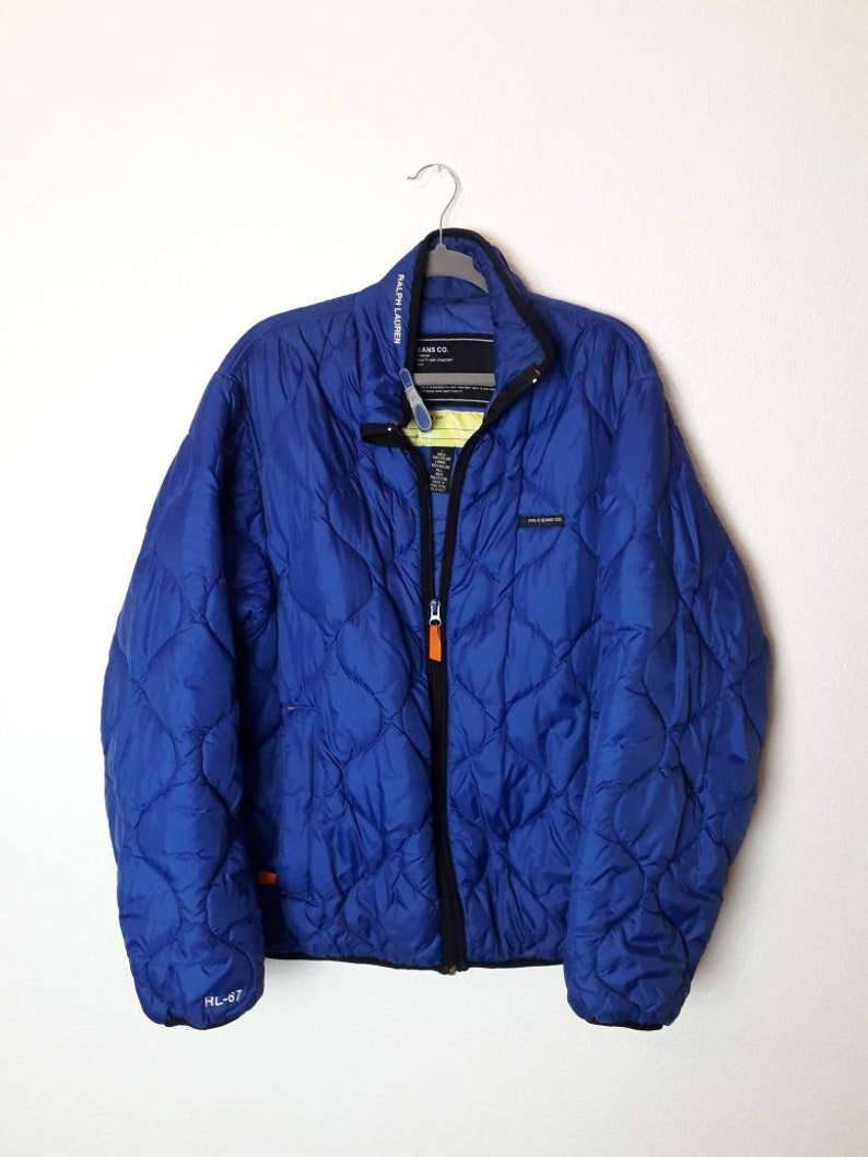 Polo Lauren Jeans Ralph Vintage L Jacket Quilted BWrCoxde