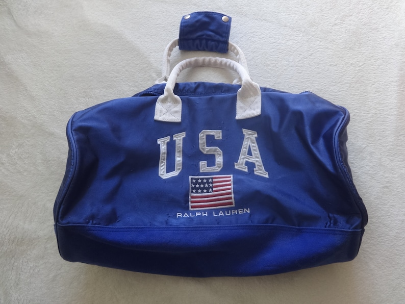 57bbc5a04f99 Polo Sport Ralph Lauren satin 92 stadium Team Usa gym bag