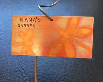 Small Colorful Copper Garden Plaque