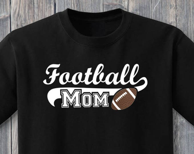 Football Mom 100% Soft Cotton Sports Shirt