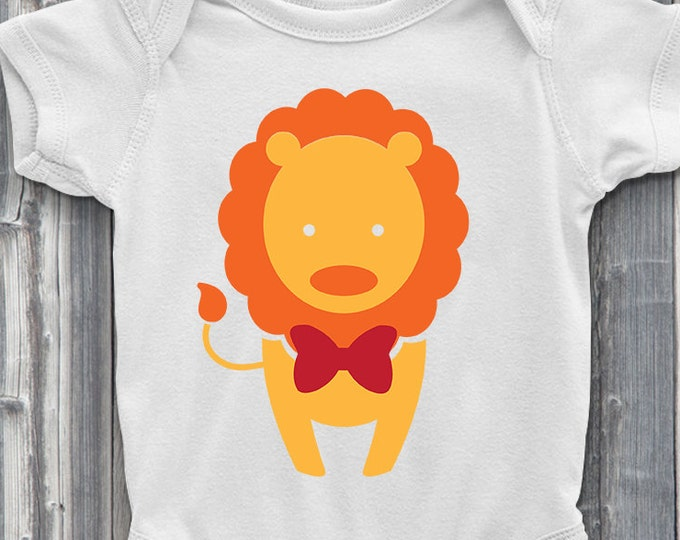 Lion With Red Bow 100% Soft Cotton Adorable ONESIE