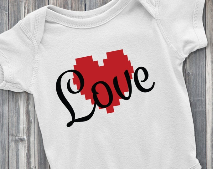 Love You Baby 100% Soft Cotton White ONESIE