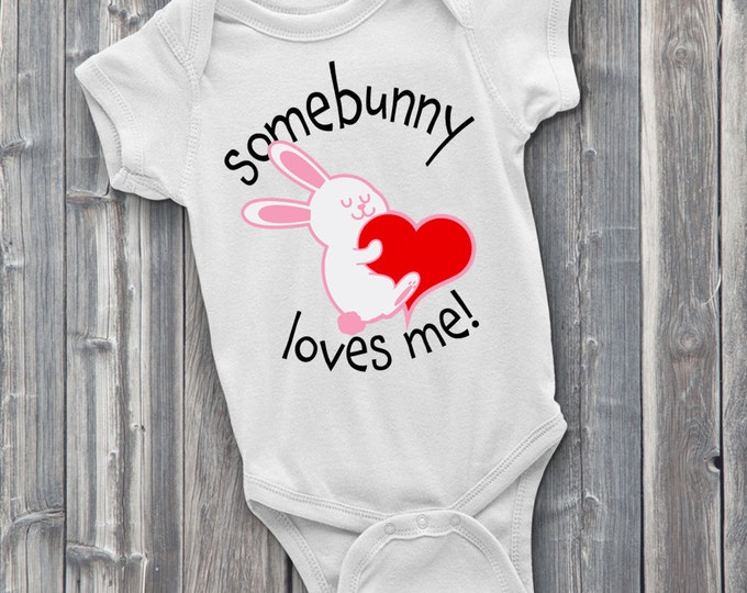 Somebunny Loves Me 100% Soft Cotton Baby ONESIE