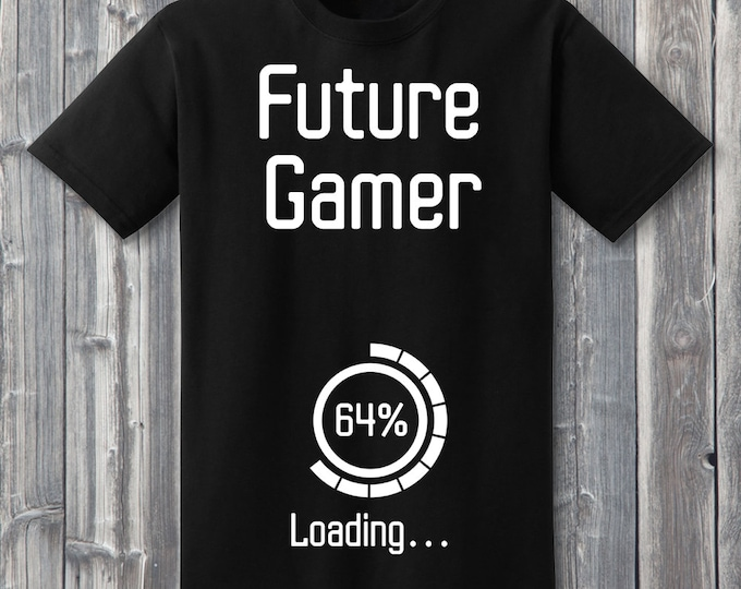 Future Gamer Loading 100% Soft Cotton Pregnancy Announcement Shirt