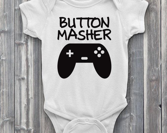 Button Masher 100% Soft Cotton Gamer ONESIE