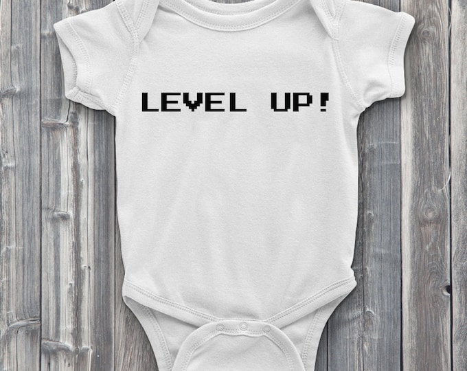 Level up 100% Soft Cotton Gamer ONESIE