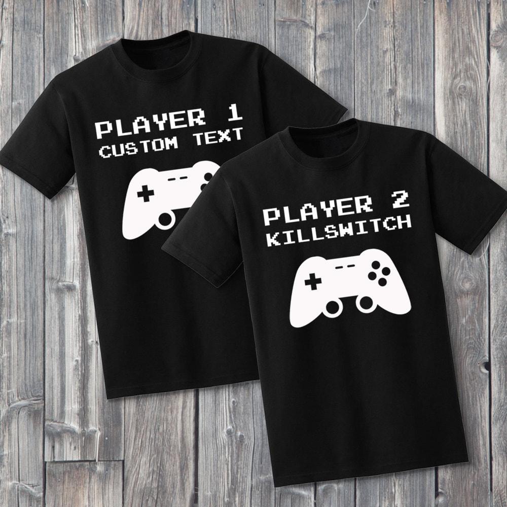 Custom Gamer Couples 100 Soft Cotton Matching Shirts