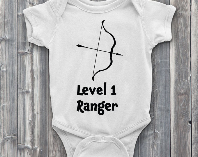 Level 1 Ranger 100% Soft Cotton Gamer ONESIE