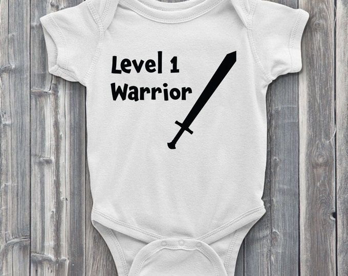 Level 1 Warrior Class 100% Soft Cotton Baby ONESIE