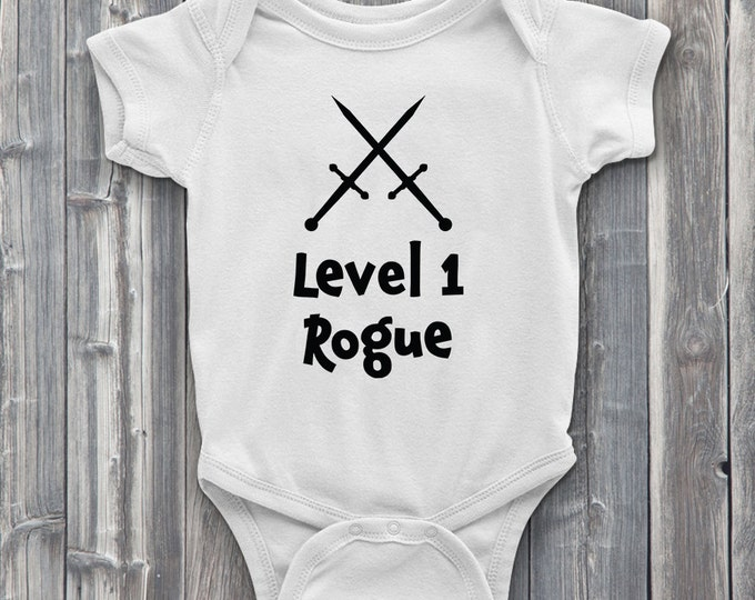 Level 1 rogue 100% Soft Cotton Gamer ONESIE
