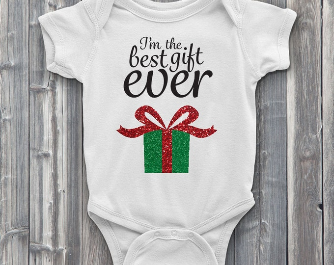 Best Gift Ever 100% Soft Cotton Christmas ONESIE