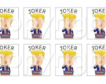 Combo pack Donald joker srickers, American Mah Jongg Tile Decal stickers- 10 sets of 8