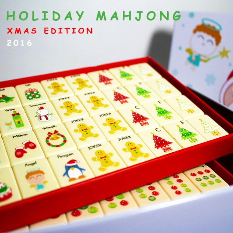 Holiday mahjong set Christmas limited edition image 0