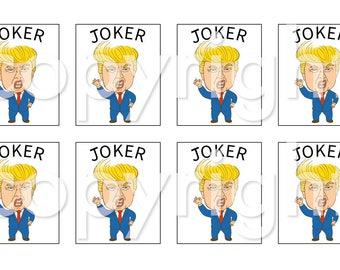 High IQ ? Donald, American Mah Jongg Tile Decal stickers- set of 8