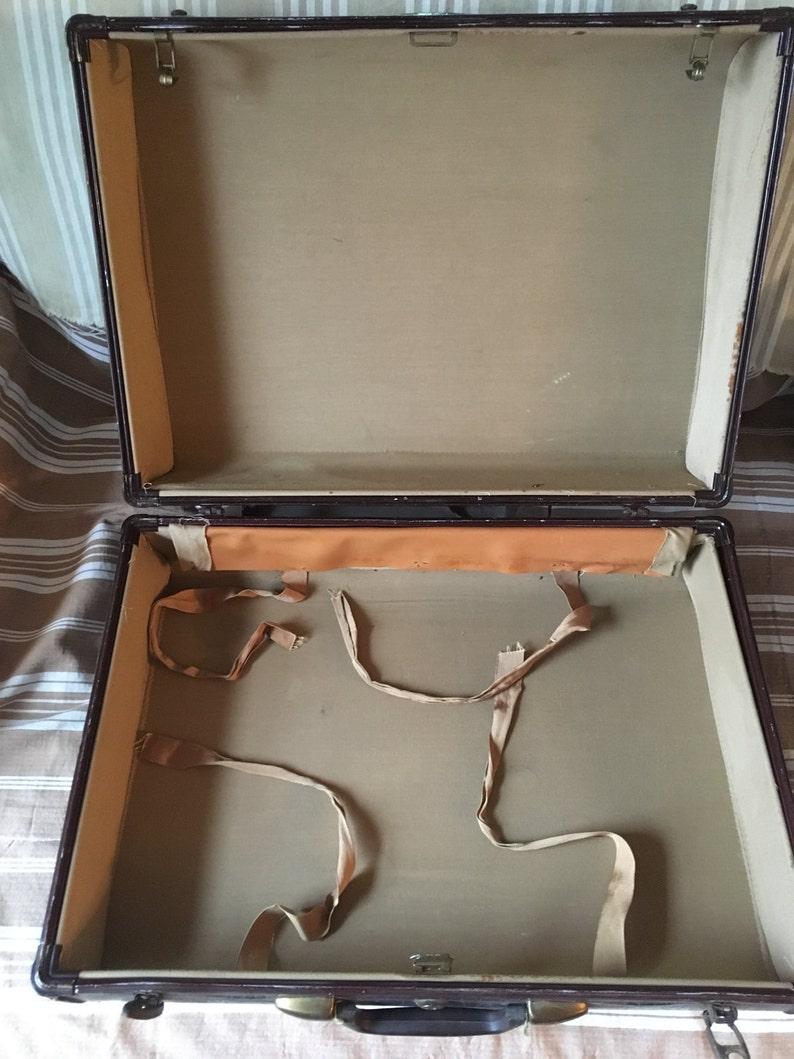 Vintage Suitcase Croc pattern Samsonite luggage Great for Stacking