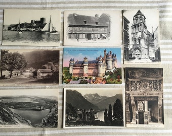 Vintage French postcards lot of 8