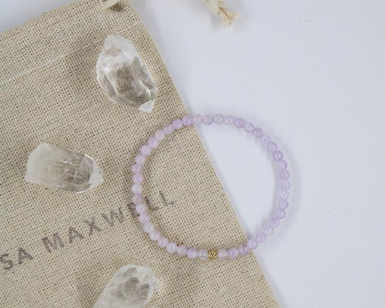 Dainty Dreamer Bracelet-Amethyst Bracelet-Stretch Bracelet-Layering Bracelet-Gemstone Bracelet-Gold-Filled Bracelet-Healing Bracelet