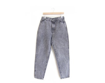 50% of Proceeds go to Planned Parenthood! Vintage Lee Riders, High-Waisted Acid Wash Black Jeans, 90's Denim, Mom Jeans, 30 x 30, Medium