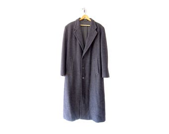 Vintage Armani Coat: 50% of Proceeds go to Planned Parenthood! Gray Wool Coat by Giorgio Armani, 80s/90s, Men's Medium/Large, Made in Italy