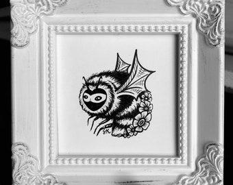 ORIGINAL - Framed Mini Bat Bee