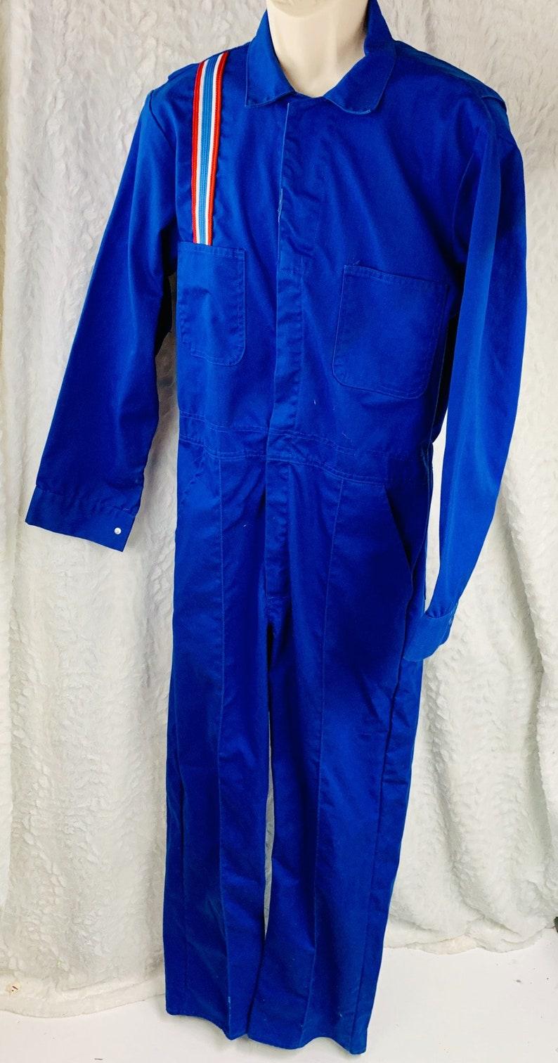 Vintage Todd Uniform Gas Station Attendant Coveralls Mens Size M 40 42 Stripes
