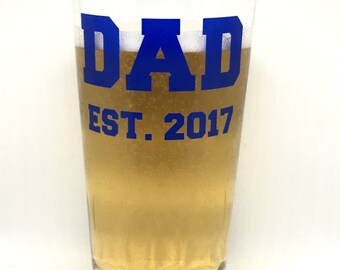 Father's Day Pint Glass, Father's Day Beer Mug, Father's Day Gift, New Dad Gift, Father's Day, First Father's Day