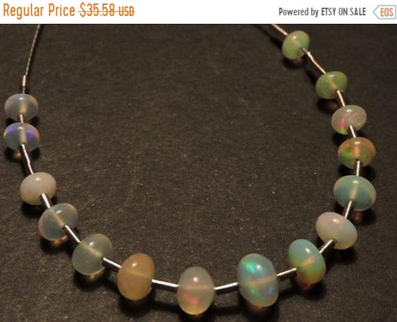 On Sale Ethiopian Opal Beads15 Pcs  Natural Ethiopian Welo Fire Opal Gemstone Smooth Polished Beads Size 3-5 MM