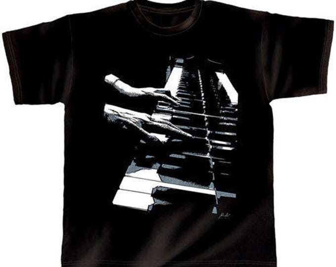 Rock You music T shirt piano hands on S M L XL XXL