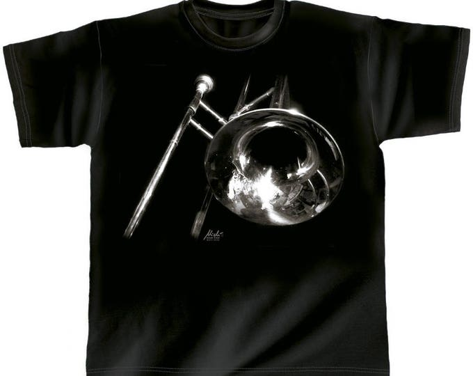 Rock You music t shirt trombone S M L XL XXL