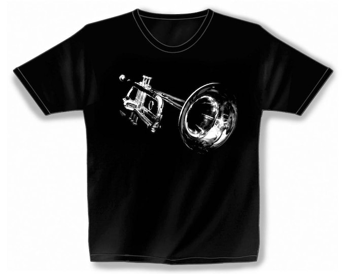 Rock You music T shirt space trumpet S M L XL XXL