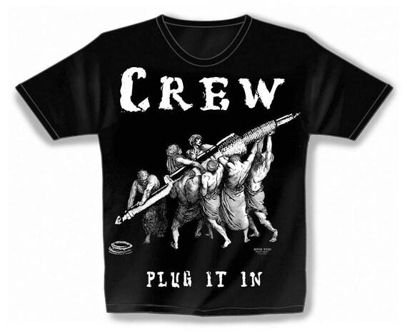 Rock You music T shirt crew plug it in S M L XL XXL