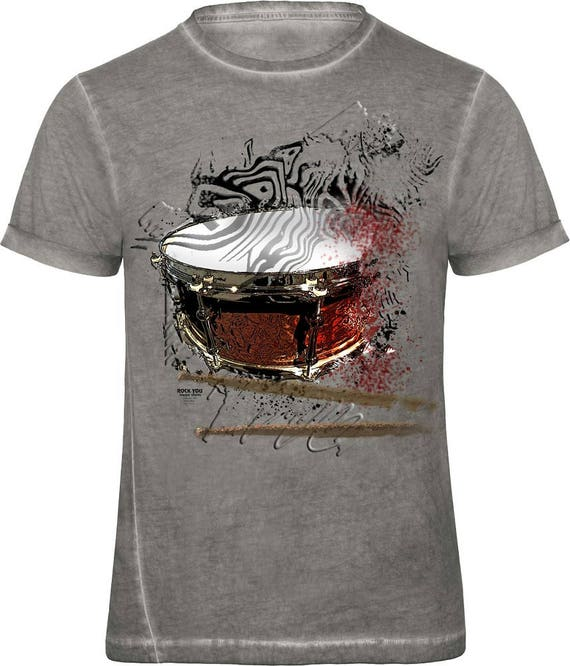 Rock You music T shirt bursted snare S M L XL XXL