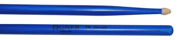 Agner Drumsticks 7a UV Blue