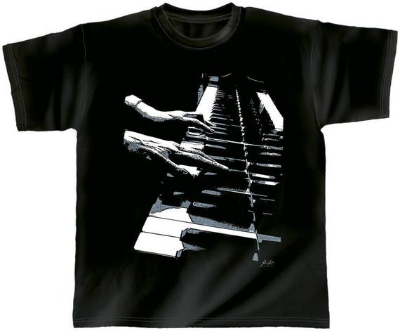 Rock You music T shirt piano hands S M L XL XXL
