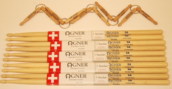 Agner Drumsticks Drumsticks 5a a budget bundle No. 5
