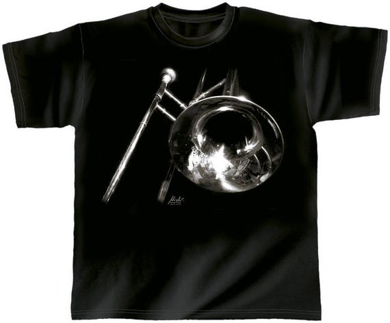 Rock You music t shirt trombone S M L XL XXL