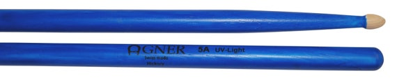 Agner Drumsticks 5a UV Blue