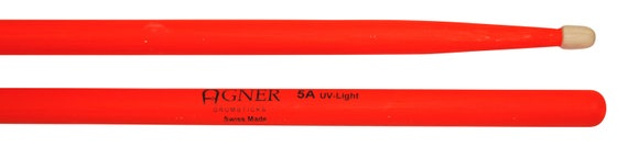 Agner Drumsticks 5a UV Red