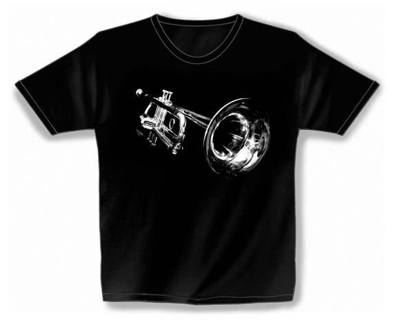 Rock You music T shirt space trumpet S M L XL XXL