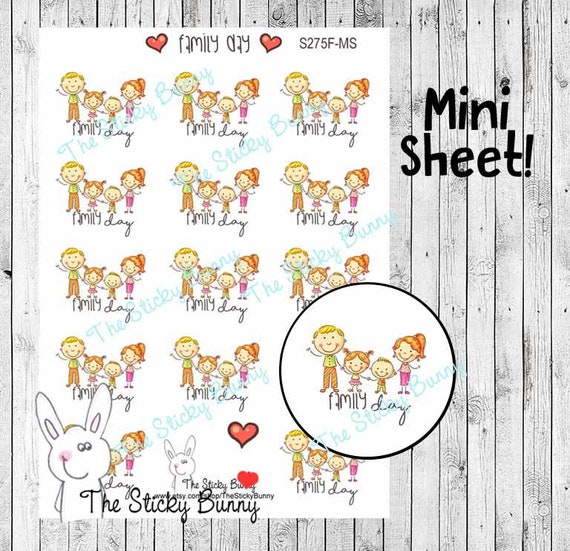happy kids family day planner stickers for happy planner etsy