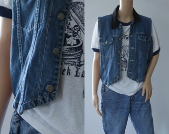 CLEARANCE - Cool 90's Dark Denim Vest